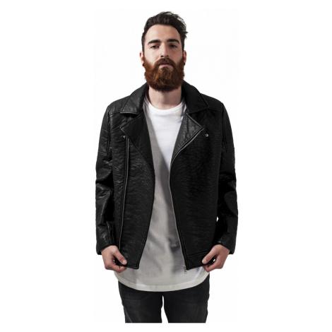 Urban Classics Herren Jacke Leather Imitation Biker Jacket