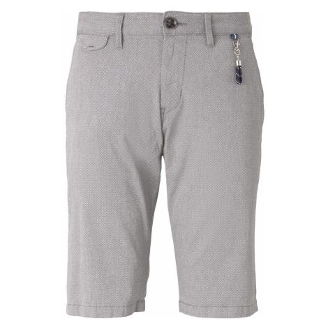 TOM TAILOR Herren Strukturierte Chino Shorts mit Schlüsselanhänger, grau