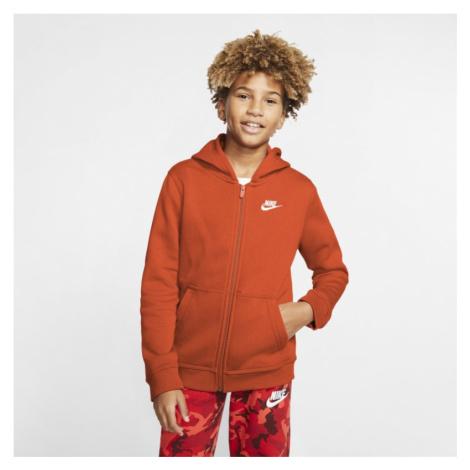Nike Sportswear Club Hoodie mit durchgehendem Reißverschluss für ältere Kinder - Orange