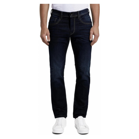 Tom Tailor Herren Jeans Marvin - Straight Fit - Blau - Dark Stone Wash