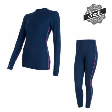 Damen Set Sensor ORIGINAL ACTIVE SET shirt + unterhosen dark  blau 17200053