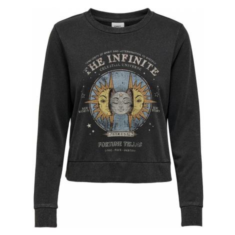 ONLY Print Sweatshirt Damen Schwarz