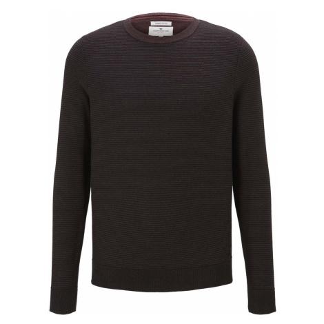 TOM TAILOR Herren Basic Pullover mit Streifenstruktur, lila