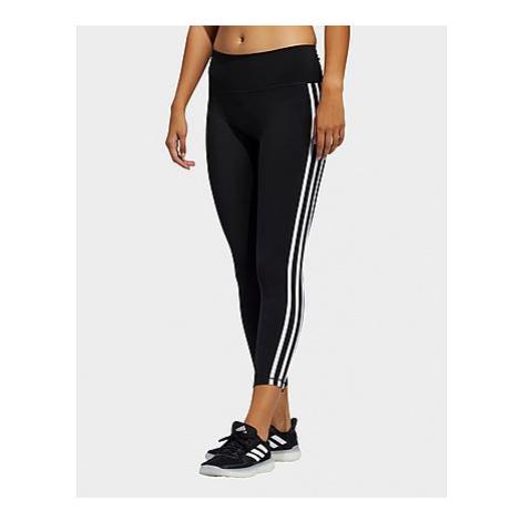Adidas Believe This 2.0 3-Streifen 7/8-Tight - Black / White - Damen, Black / White