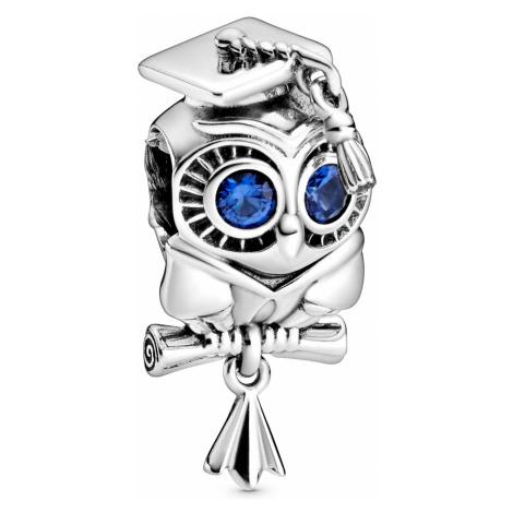 Pandora 798907C01 Silber Bead-Charm Weise Eule Schulabschluss