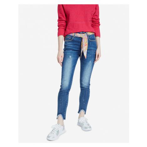 Desigual Denim Rainbow Jeans Blau