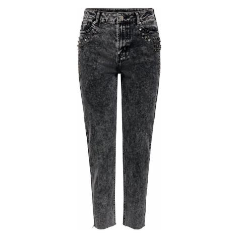 ONLY Onlwild Emily Hw Acid Ankle Straight Fit Jeans Damen Grau