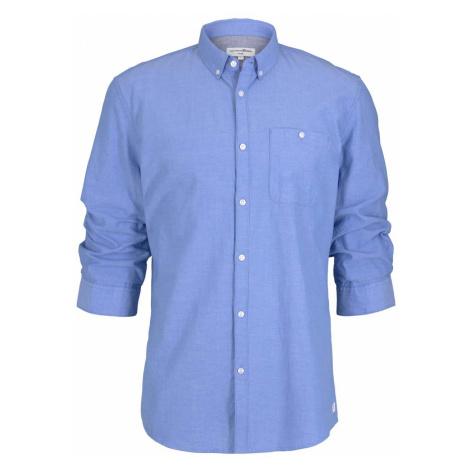 TOM TAILOR DENIM Herren strukturiertes Hemd, blau