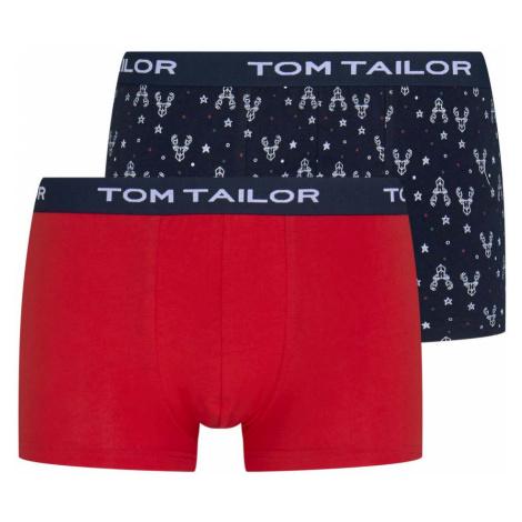 TOM TAILOR Herren Rentier Hip Pants im Zweierpack, rot