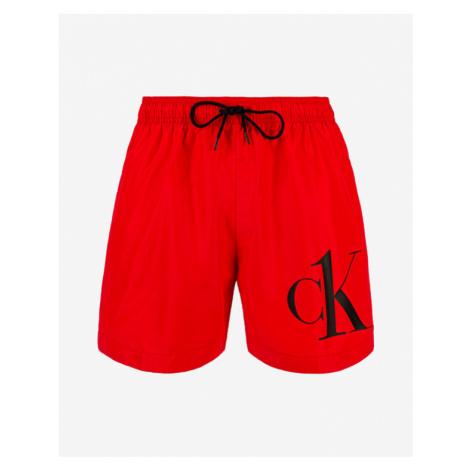 Calvin Klein Medium Drawstring Swimsuit Rot