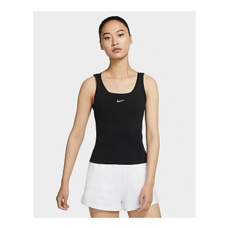 Nike Essential Cami Tank Top Damen - Damen, Black/White