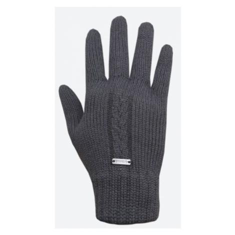 Gestrickte Merino Handschuhe Kama R103 111 dark  grey
