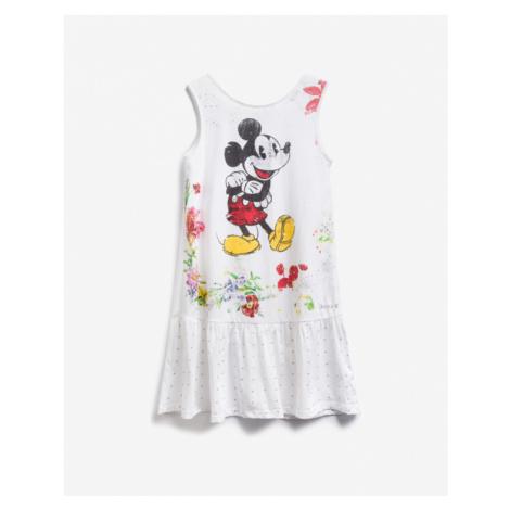 Desigual Mickey Mouse Kinderkleider Weiß
