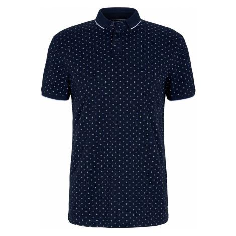 TOM TAILOR DENIM Herren gemustertes Poloshirt, blau