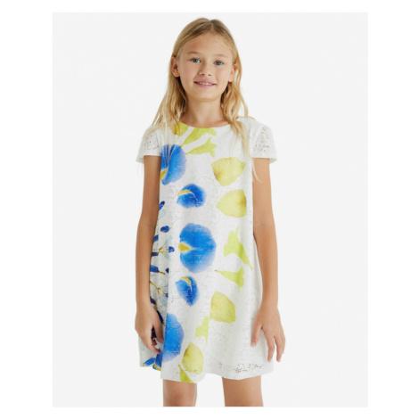 Desigual Silvia Kinderkleider Weiß