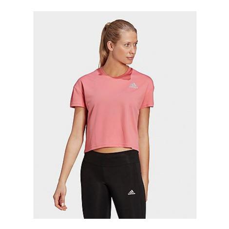 Adidas Fast Primeblue T-Shirt - Hazy Rose / Reflective Silver - Damen, Hazy Rose / Reflective Si