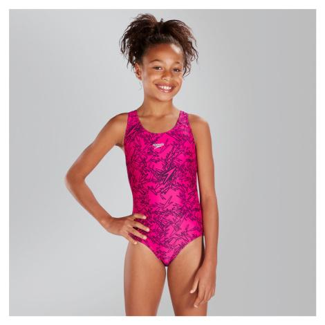 Speedo Boom Splashback Badeanzug, Pink/Schwarz