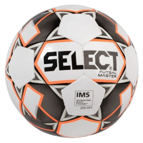 Futsal- Ball Select FB Futsal Master weiß Orange Grösse. 4