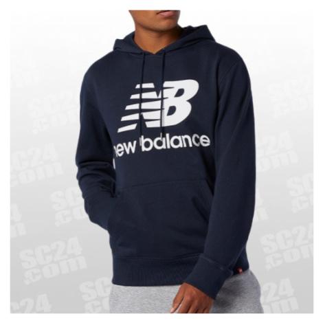 New Balance Essentials Stacked Logo Pullover Hoodie blau/weiss Größe S