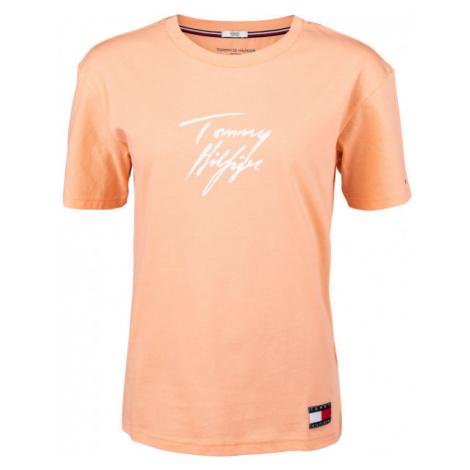 Tommy Hilfiger CN TEE SS LOGO orange - Damenshirt