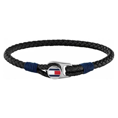 Tommy Hilfiger 2790205 Herren Leder-Armband Schwarz Casual