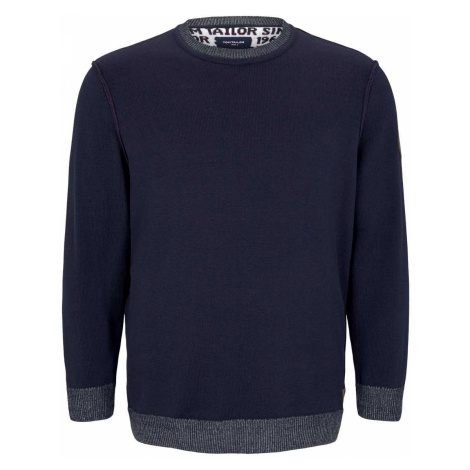 TOM TAILOR Herren strukturierter Pullover, blau