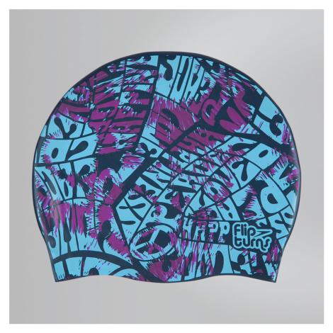 Speedo Flipturns Reversible Badekappe, Blau/Blau/Lila