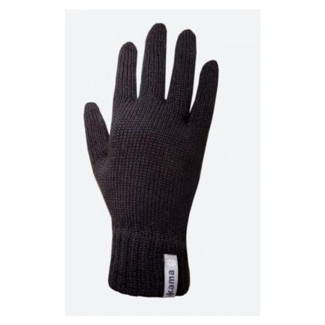 Gestrickte Merino Handschuhe Kama R101 110 black