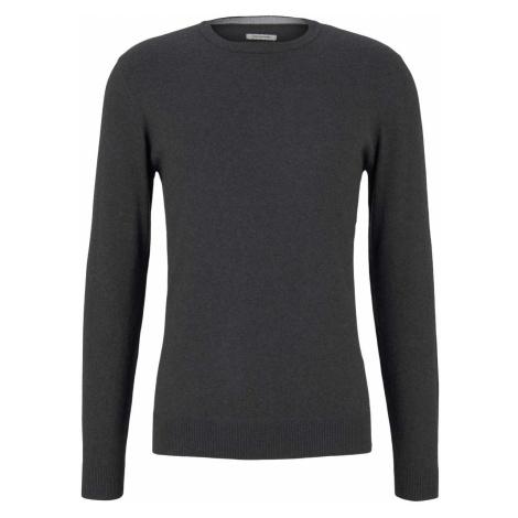 TOM TAILOR Herren strukturierter Pullover, grau