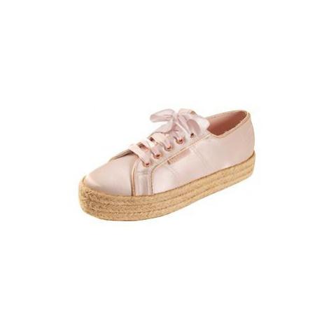 Plateau-Sneaker 'Satin' rosé, Superga