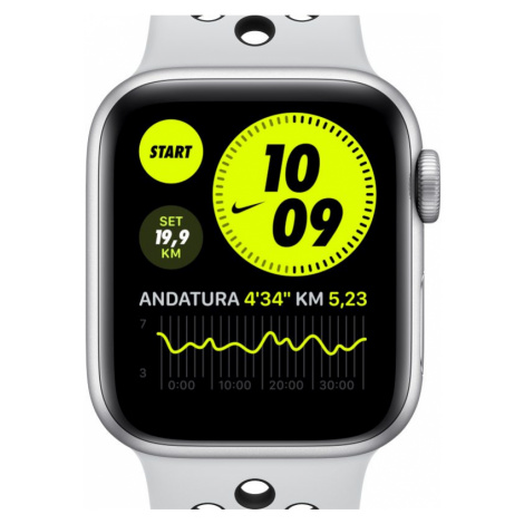 Apple Watch Nike Series 6 (GPS + Cellular) mit Nike Sportarmband 44-mm-Gehäuse in Silver Aluminu