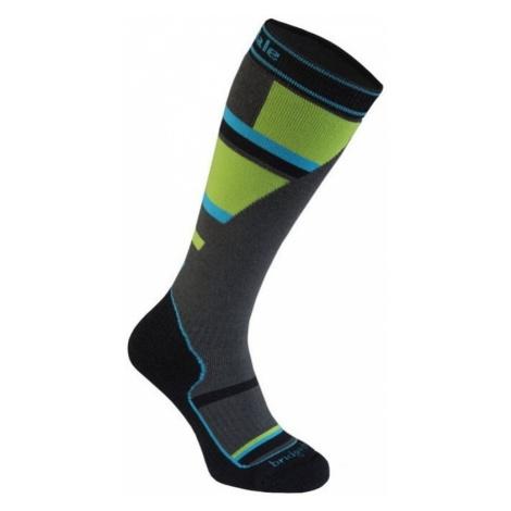 Socken Bridgedale Ski Mountain Junior grey/green/068