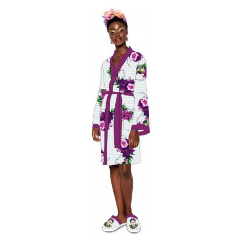 Bademantel Frida Kahlo - Violet Bouquet - 92259