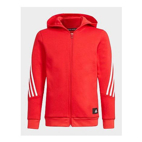 Adidas Future Icons 3-Streifen Kapuzenjacke, Vivid Red / White