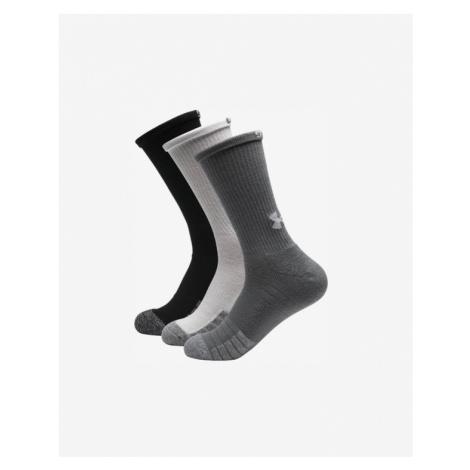 Under Armour HeatGear® 3 Paar Socken Schwarz Weiß Grau