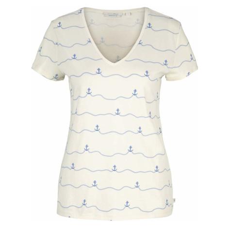 TOM TAILOR DENIM Damen Anker T-Shirt mit Bio-Baumwolle, beige