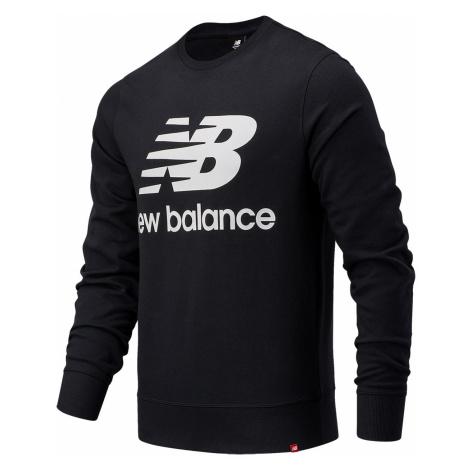 New Balance Herren Crewneck ESSENIALS STACKED LOGO CREW MT03560 Black