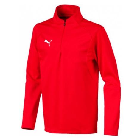 Puma LIGA TRAINING 1/4 ZIP TOP JR rot - Kinder Sweatshirt