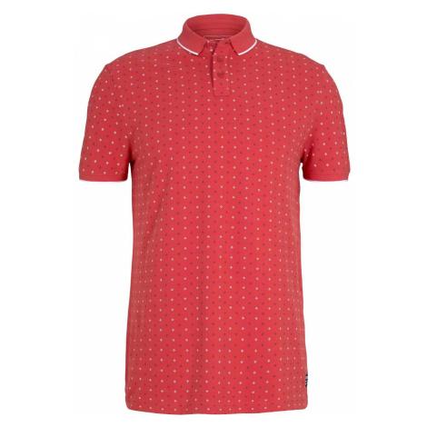 TOM TAILOR DENIM Herren gemustertes Poloshirt, rot