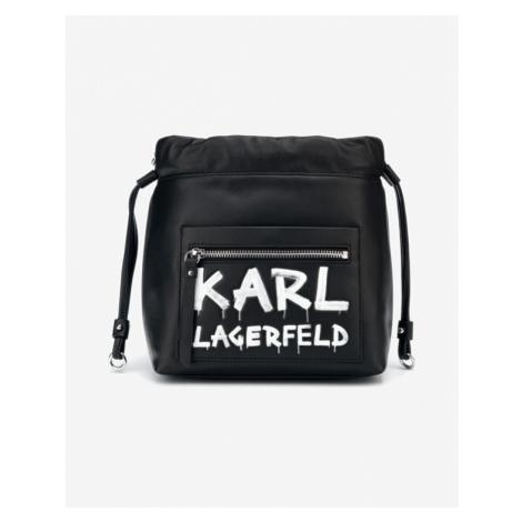 Karl Lagerfeld K/Soho Graffiti Small Handtasche Schwarz