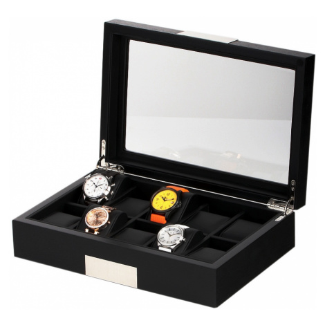 Rothenschild Uhrenbox RS-2350-10BL für 10 Uhren black