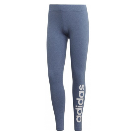 adidas LIN TIGHT DENIM blau - Damen Leggings