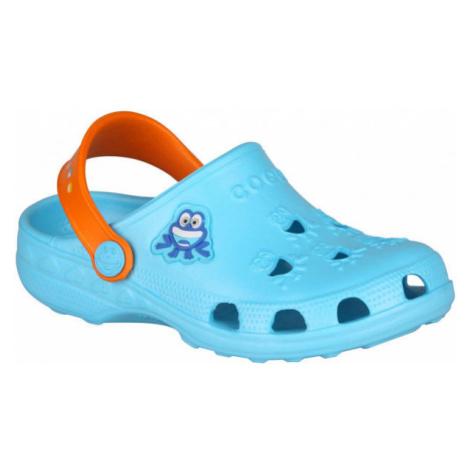 Coqui LITTLE FROG blau - Kindersandalen
