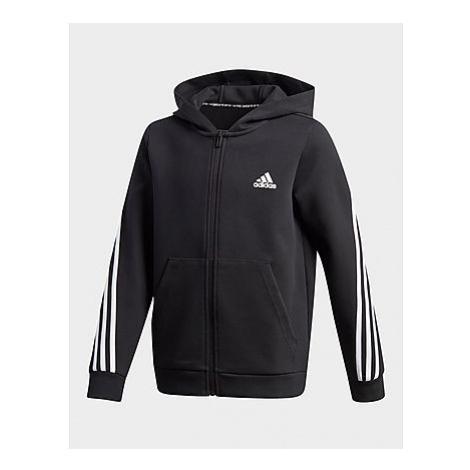 Adidas 3-Streifen Doubleknit Kapuzenjacke - Black / White, Black / White