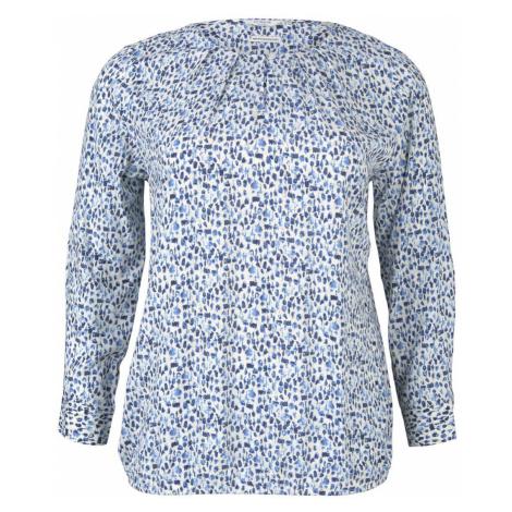 TOM TAILOR MY TRUE ME Damen Bluse mit Faltendetails, blau