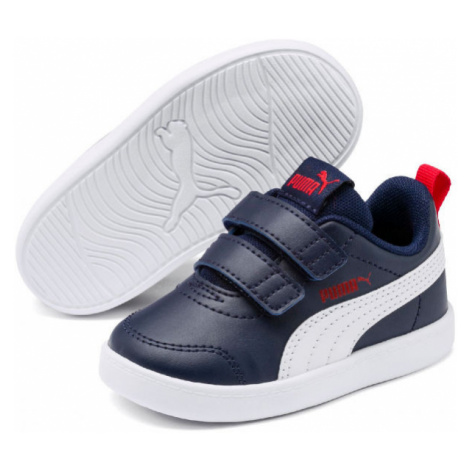 Puma COURTFLEX V2 V INF dunkelblau - Kinder Sneaker