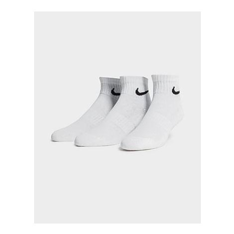 Nike Everyday Cushioned Trainings-Knöchelsocken (3 Paar) - Herren, White/Black/Black