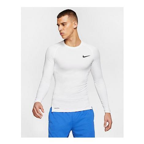Nike Pro Long Sleeve T-Shirt Herren - White/Black - Herren, White/Black