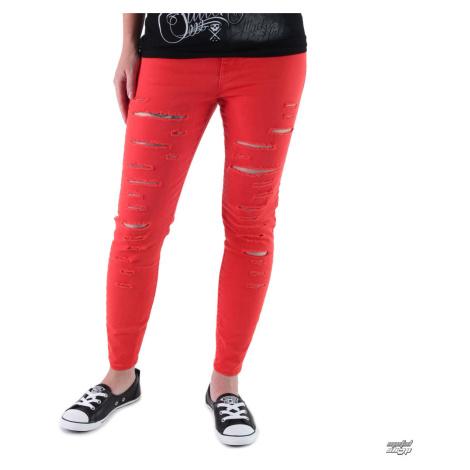 Damenhose VANS - High Rise Back Zip Flame - Scarlet - V2ZWH8Q