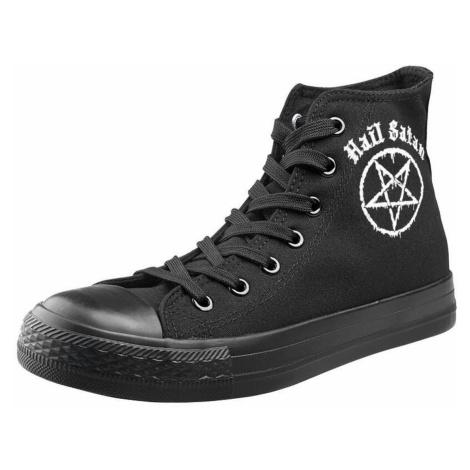 High Top Sneakers Unisex - Hail Satan - AMENOMEN - OMEN112TRAMP